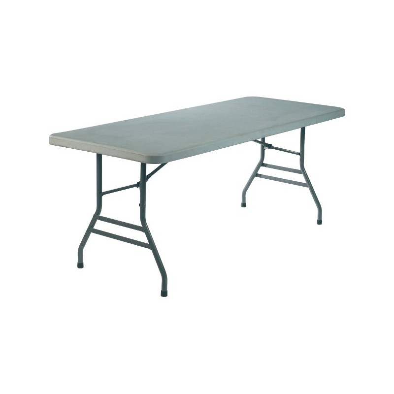 Table basic rectangle a napper et pieds pliants aliance - Table pied pliant ...