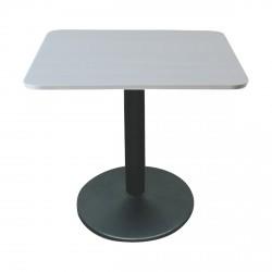 Table carré GABY Grise - Pied Noir